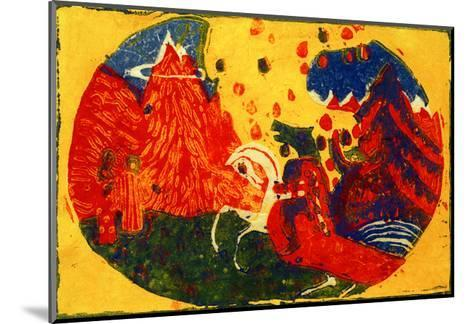 Mountains, 1911-Wassily Kandinsky-Mounted Giclee Print