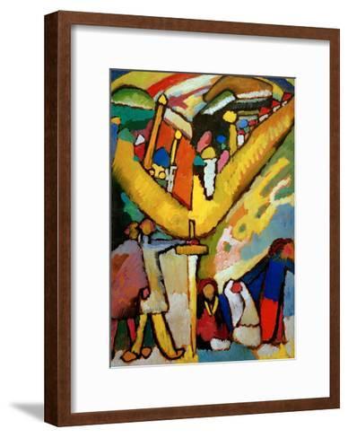 Study for Improvisation 8, 1910-Wassily Kandinsky-Framed Art Print