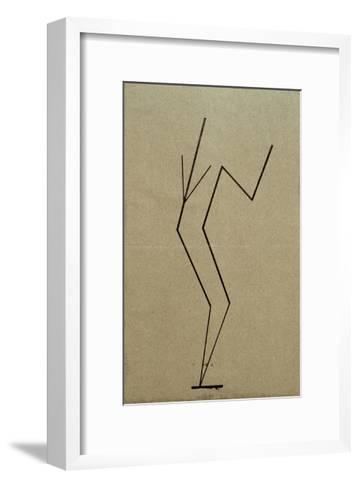 Analytical Drawing after Photos of Dancing, 1925-Wassily Kandinsky-Framed Art Print