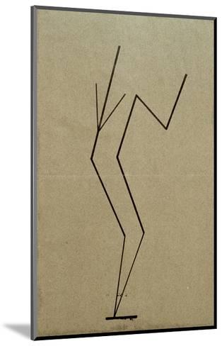 Analytical Drawing after Photos of Dancing, 1925-Wassily Kandinsky-Mounted Giclee Print