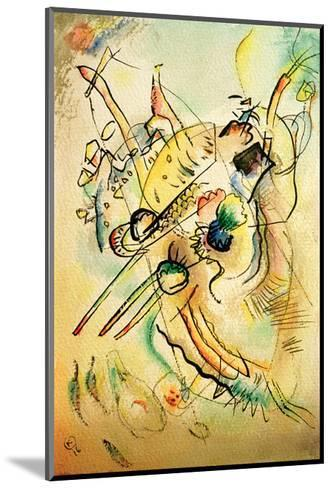 Composition D, 1916-Wassily Kandinsky-Mounted Giclee Print