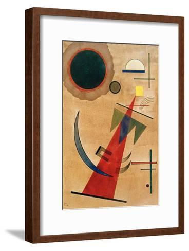 Pointed Red Shape, 1925-Wassily Kandinsky-Framed Art Print