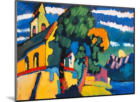 Village Church in Riegsee, Bavaria, 1907-Wassily Kandinsky-Mounted Giclee Print