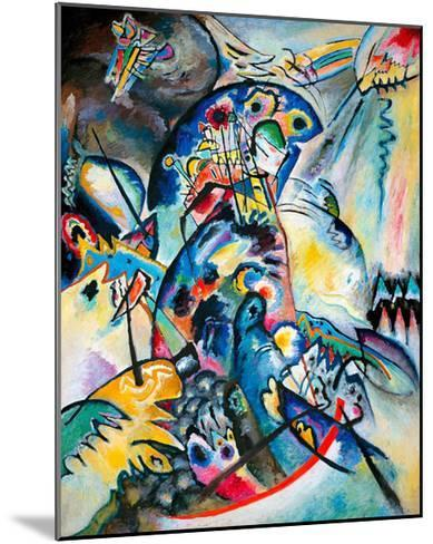 Blue Comb, 1917-Wassily Kandinsky-Mounted Giclee Print