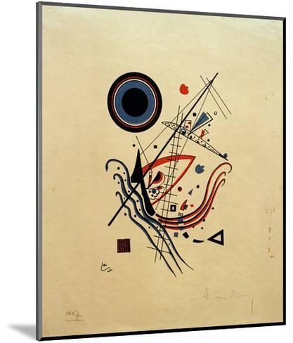 Blue, 1922-Wassily Kandinsky-Mounted Giclee Print
