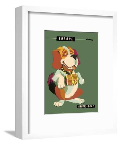 Europe - Saint Bernard Dog-Harry Rogers-Framed Art Print