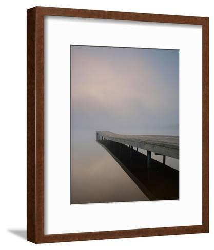 Silence at the Dock--Framed Art Print