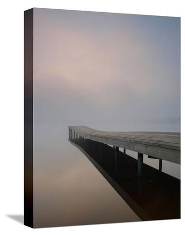 Silence at the Dock--Stretched Canvas Print