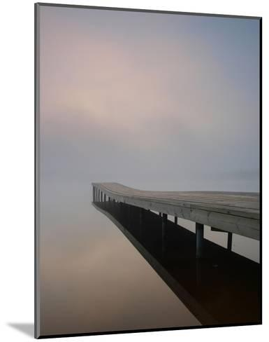 Silence at the Dock--Mounted Art Print