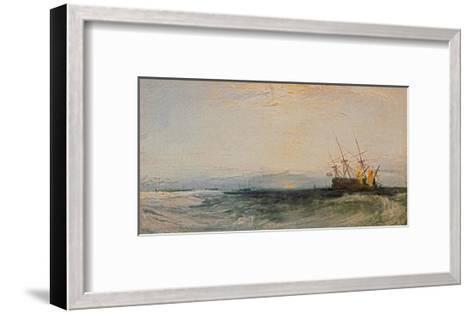 A Ship Around, 1828-J^ M^ W^ Turner-Framed Art Print