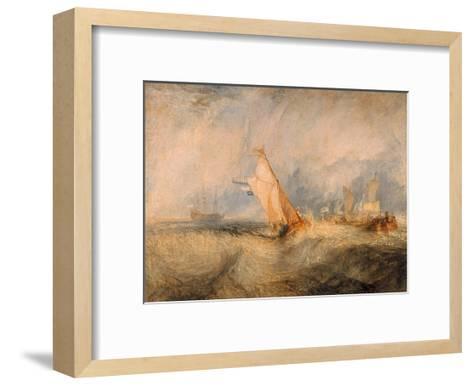 Admiral Van Tromp Cruising Into the Wind, 1844-J^ M^ W^ Turner-Framed Art Print