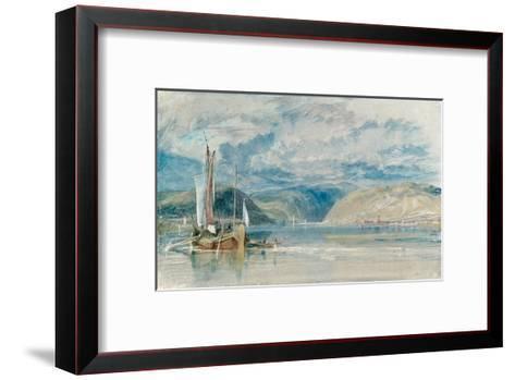 Rudesheim, View of the Binger Loch, 1817-J^ M^ W^ Turner-Framed Art Print