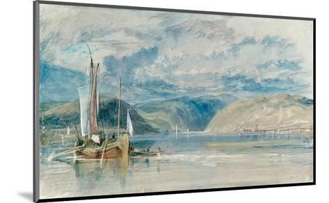 Rudesheim, View of the Binger Loch, 1817-J^ M^ W^ Turner-Mounted Giclee Print