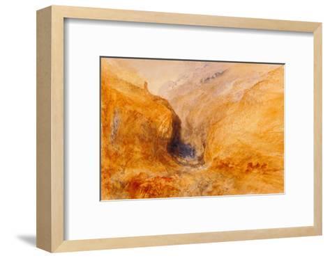 Mountainous Landscape-J^ M^ W^ Turner-Framed Art Print
