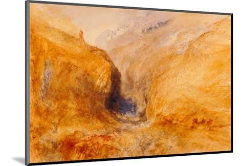 Mountainous Landscape-J^ M^ W^ Turner-Mounted Giclee Print