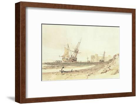 Flint Castle-J^ M^ W^ Turner-Framed Art Print