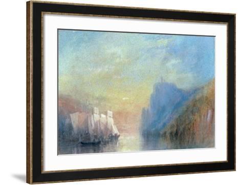 On the Rhine, c 1830-J^ M^ W^ Turner-Framed Art Print