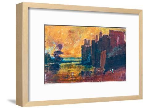 Caernarvon Castle at Sunrise, 1798-J^ M^ W^ Turner-Framed Art Print
