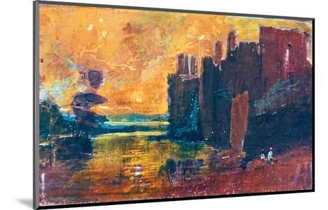 Caernarvon Castle at Sunrise, 1798-J^ M^ W^ Turner-Mounted Giclee Print