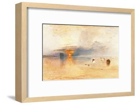 Calais Sands at Low Water, 1830-J^ M^ W^ Turner-Framed Art Print
