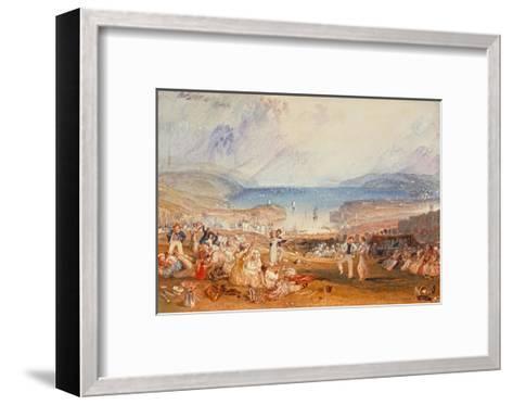 Plymouth, Devonshire, 1830-J^ M^ W^ Turner-Framed Art Print