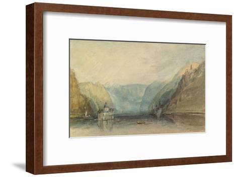 The Pfalz Near Kaub, 1817-J^ M^ W^ Turner-Framed Art Print
