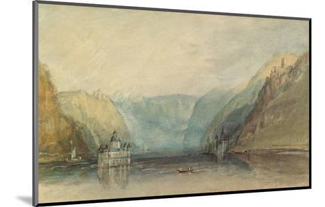 The Pfalz Near Kaub, 1817-J^ M^ W^ Turner-Mounted Giclee Print