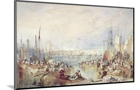 The Port of London-J^ M^ W^ Turner-Mounted Giclee Print