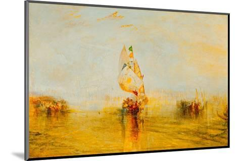The Sun of Venice Setting Sail, 1843-J^ M^ W^ Turner-Mounted Giclee Print