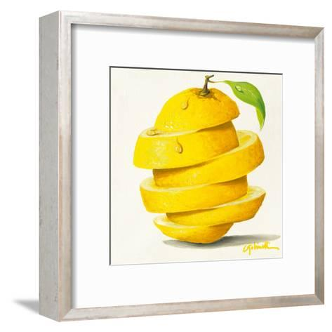 Lemon Cut-Paolo Golinelli-Framed Art Print