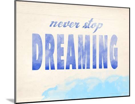 Never Stop Dreaming-Jeanne Stevenson-Mounted Giclee Print