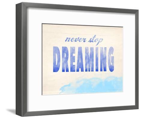Never Stop Dreaming-Jeanne Stevenson-Framed Art Print