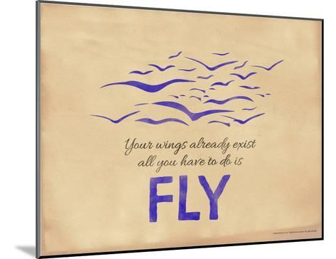 All You Have to Do is Fly-Jeanne Stevenson-Mounted Giclee Print