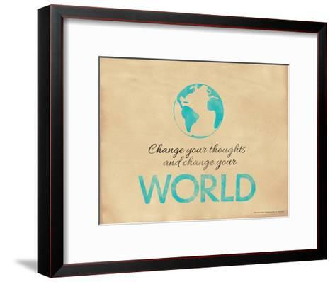 Change Your Thoughts and Change Your World-Jeanne Stevenson-Framed Art Print