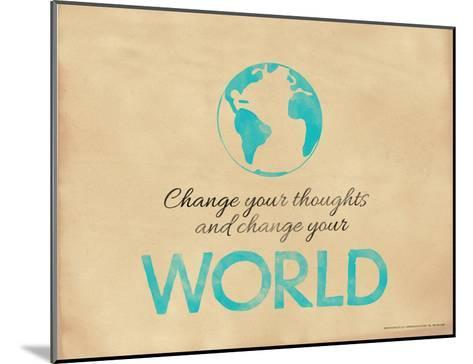 Change Your Thoughts and Change Your World-Jeanne Stevenson-Mounted Giclee Print