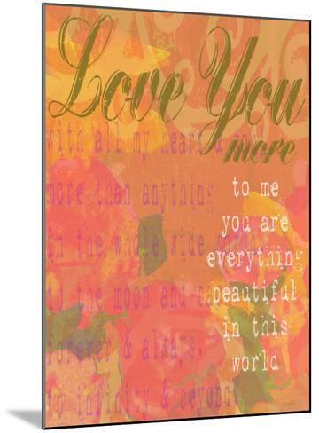 Love You More-Lisa Weedn-Mounted Giclee Print