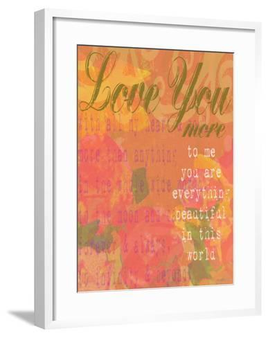 Love You More-Lisa Weedn-Framed Art Print