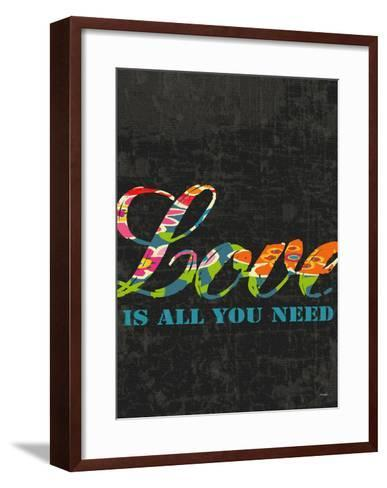 Love Is All You Need-Black-Lisa Weedn-Framed Art Print