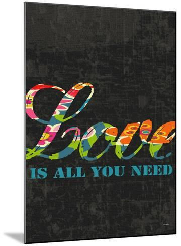 Love Is All You Need-Black-Lisa Weedn-Mounted Giclee Print