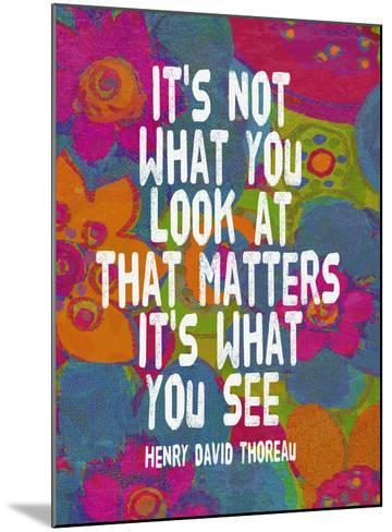 It's Not What You Look At-Lisa Weedn-Mounted Giclee Print