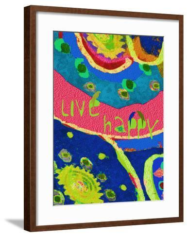 Live Happy-Lisa Weedn-Framed Art Print