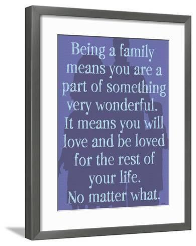 Being A Family (Purple)-Lisa Weedn-Framed Art Print