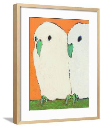 Parakeets No Text-Lisa Weedn-Framed Art Print