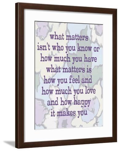 What Matters-Lisa Weedn-Framed Art Print