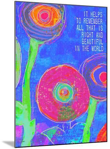 It Helps To Remember-Lisa Weedn-Mounted Giclee Print