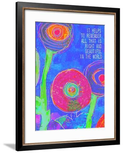 It Helps To Remember-Lisa Weedn-Framed Art Print