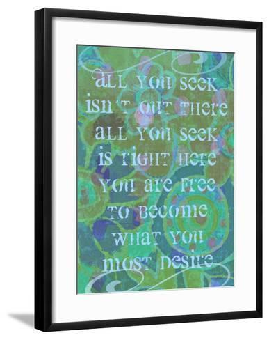 All You Seek-Lisa Weedn-Framed Art Print