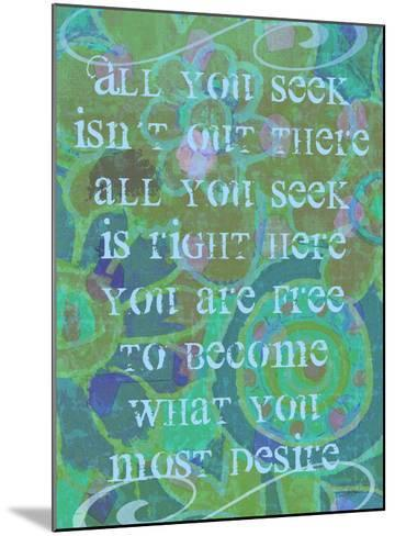 All You Seek-Lisa Weedn-Mounted Giclee Print