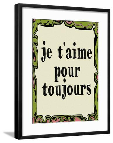 Jetaime Pour Toujours-Lisa Weedn-Framed Art Print