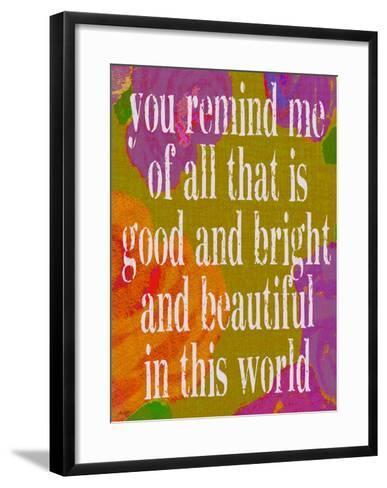 You Remind Of Me All-Lisa Weedn-Framed Art Print